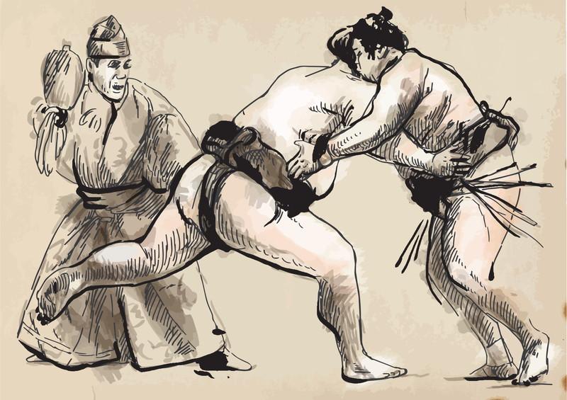 伝統ある相撲